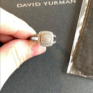 David Yurman Diamond Ring Size 7